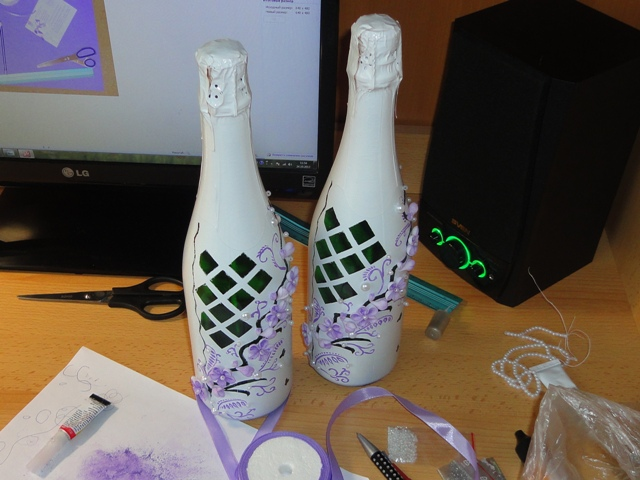 Расписанные бутылки