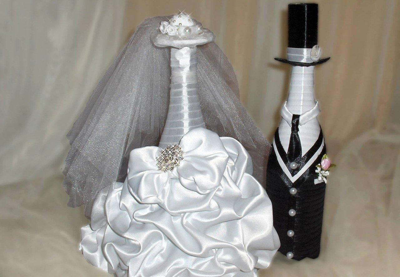 Украшение в стиле жених и невеста
