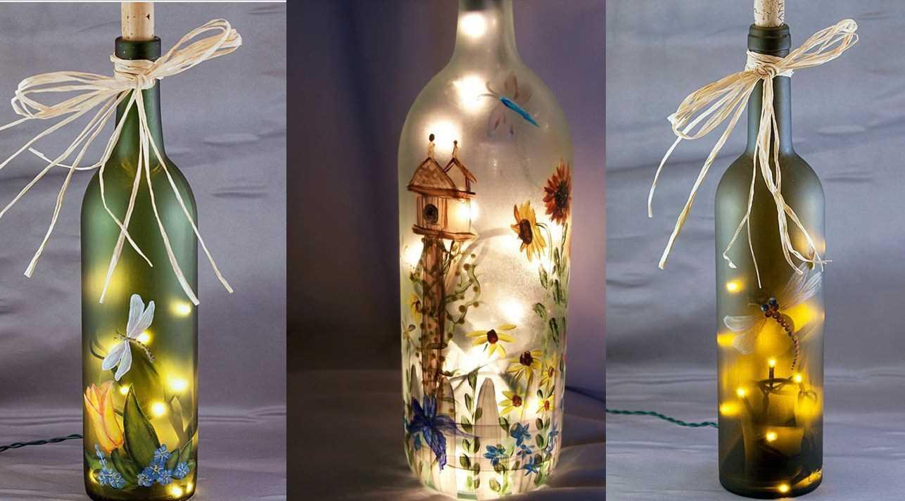 Бутылки с подсветкой
