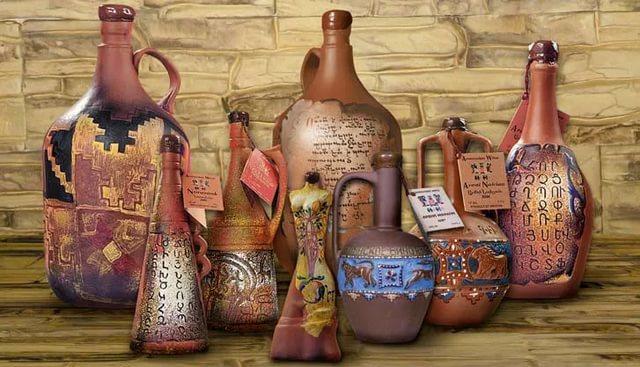 Глиняные бутылки