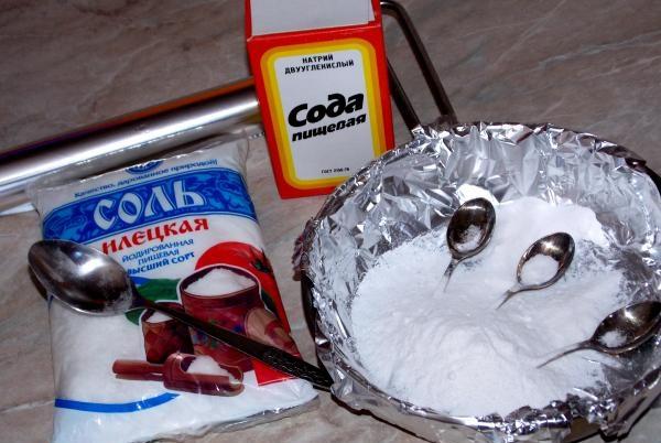 Очистка солью и содой