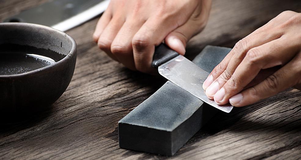Как точить ножи бруском