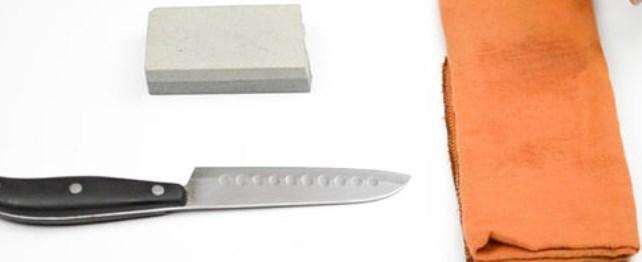 Очистка ножа после заточки