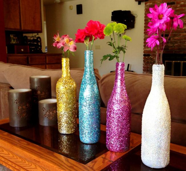 Блестящие вазы