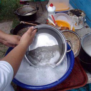 Чистка посуда, созданной из алюминия