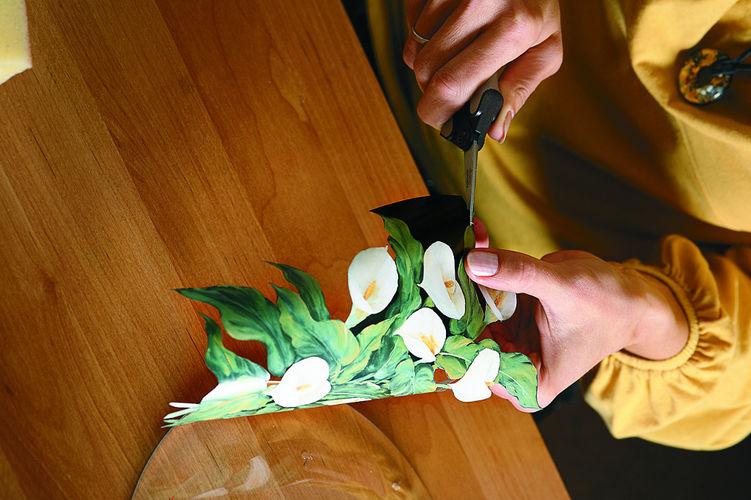 Декорирование тарелки