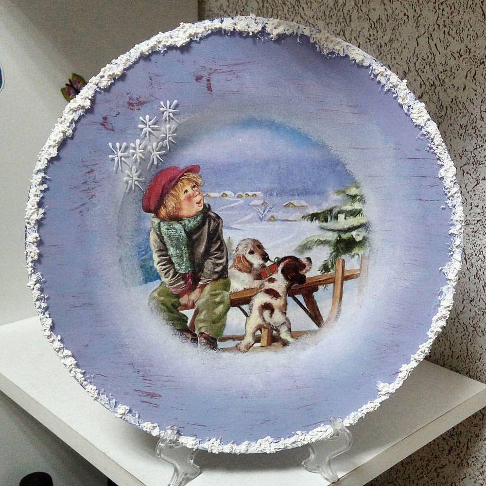 Новогодний дизайн посуды