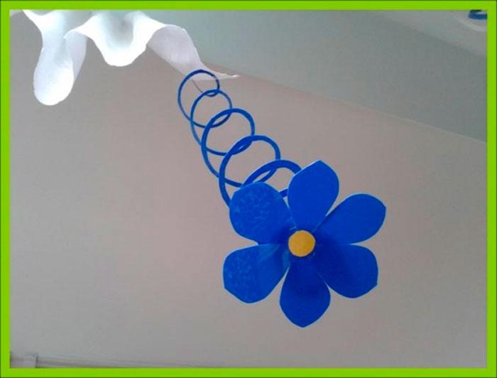 Подвесные цветы своими руками