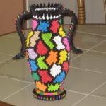 Разноцветная ваза