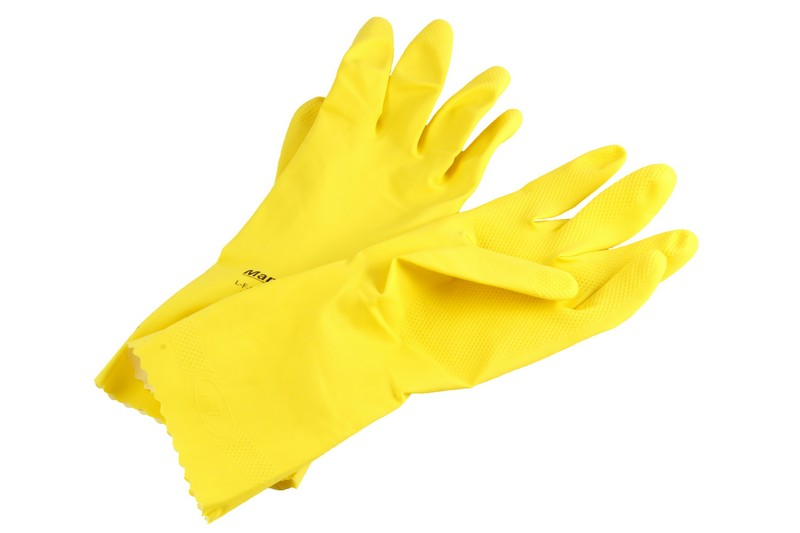 Резиновые перчатки для очистки посуды