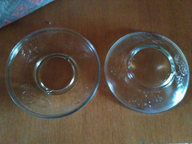 Стеклянные тарелки