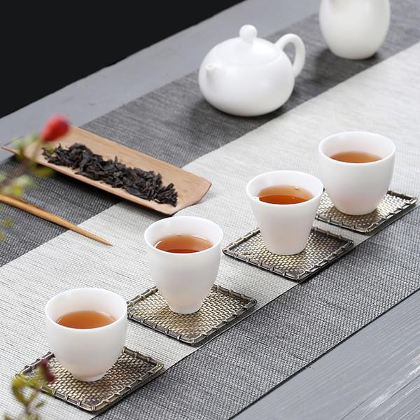 Китайский белый фарфоровый кунг-фу чайный набор