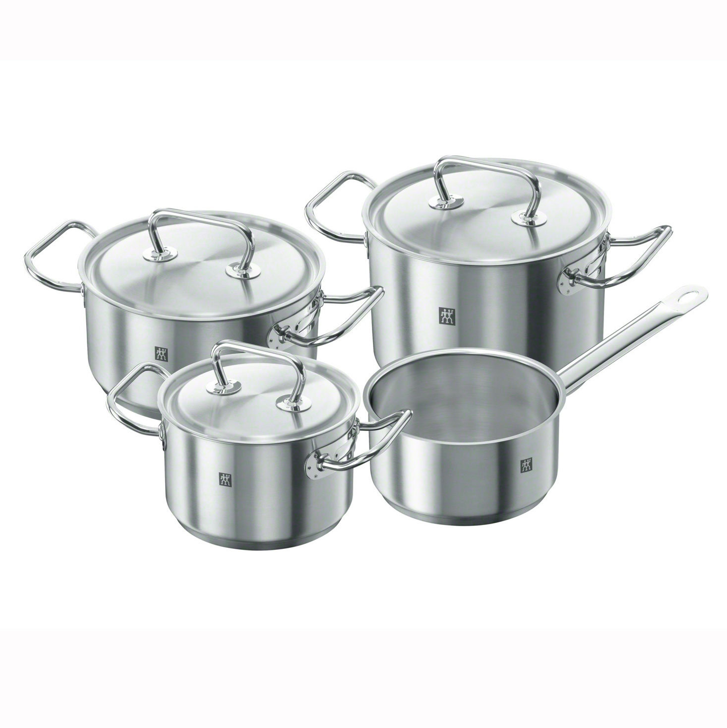 Набор посуды с металлическими крышками