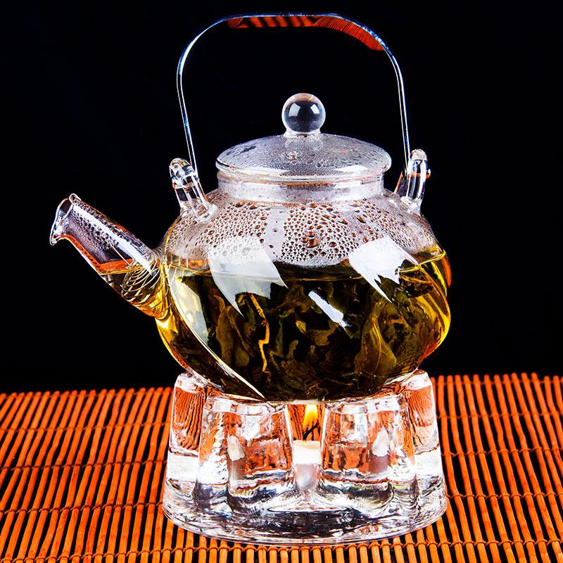 Прозрачный стеклянный чайник для заваривания чая