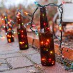 Светильники из стеклянных бутылок своими руками