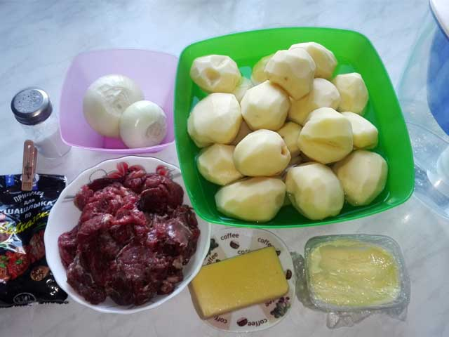 Продукты для тушеной картошки