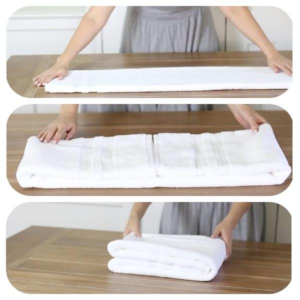Способы как компактно сложить полотенце, упаковка изделия для подарка