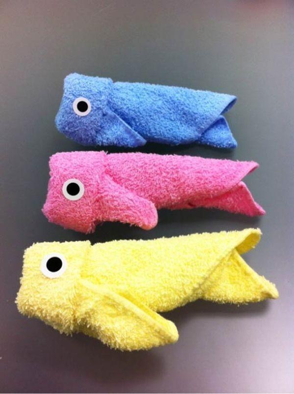 Рыбки из полотенец