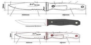 "Туристический нож ""Bushcraft"""