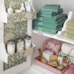 Компактное хранение полотенец в шкафу