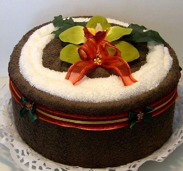 Сливочно-шоколадный тортик из полотенец