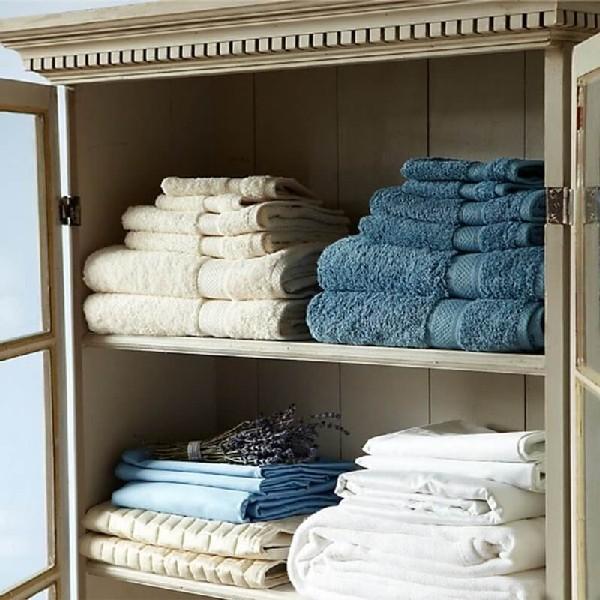 Хранение полотенец в шкафу для белья