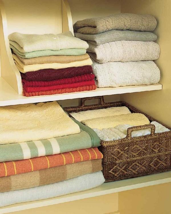 Компактное хранение в шкафу
